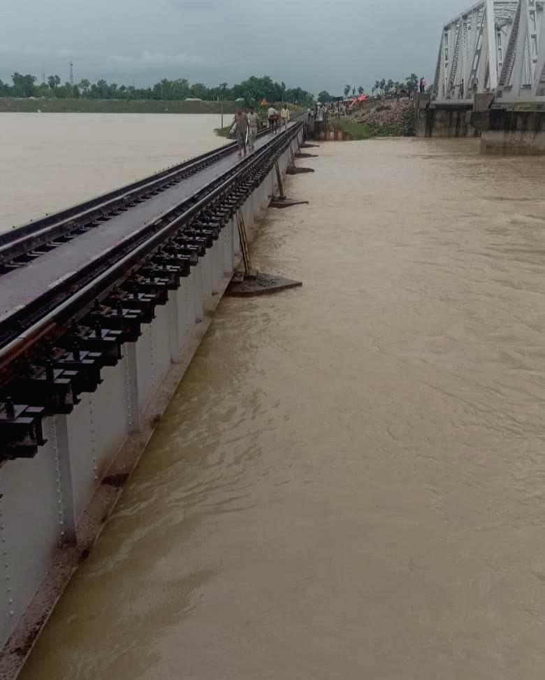 Darbhanga: A view of the flood affected Darbhanga of Bihar on July 28, 2019. (Photo: IANS)