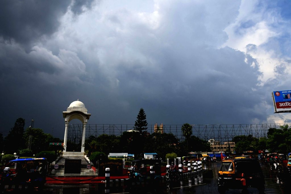 Dark clouds engulf Patna on a rainy day on Aug 5, 2020.