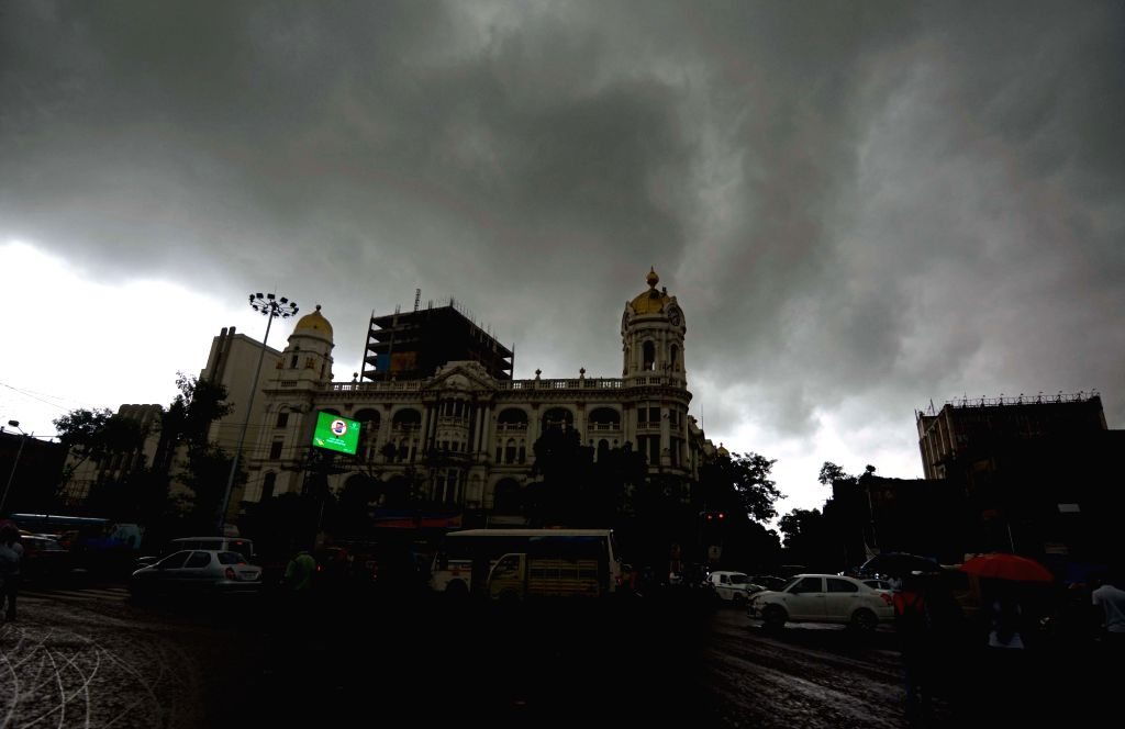 Dark clouds hover over Kolkata on an overcast day, on Sep 24, 2019.