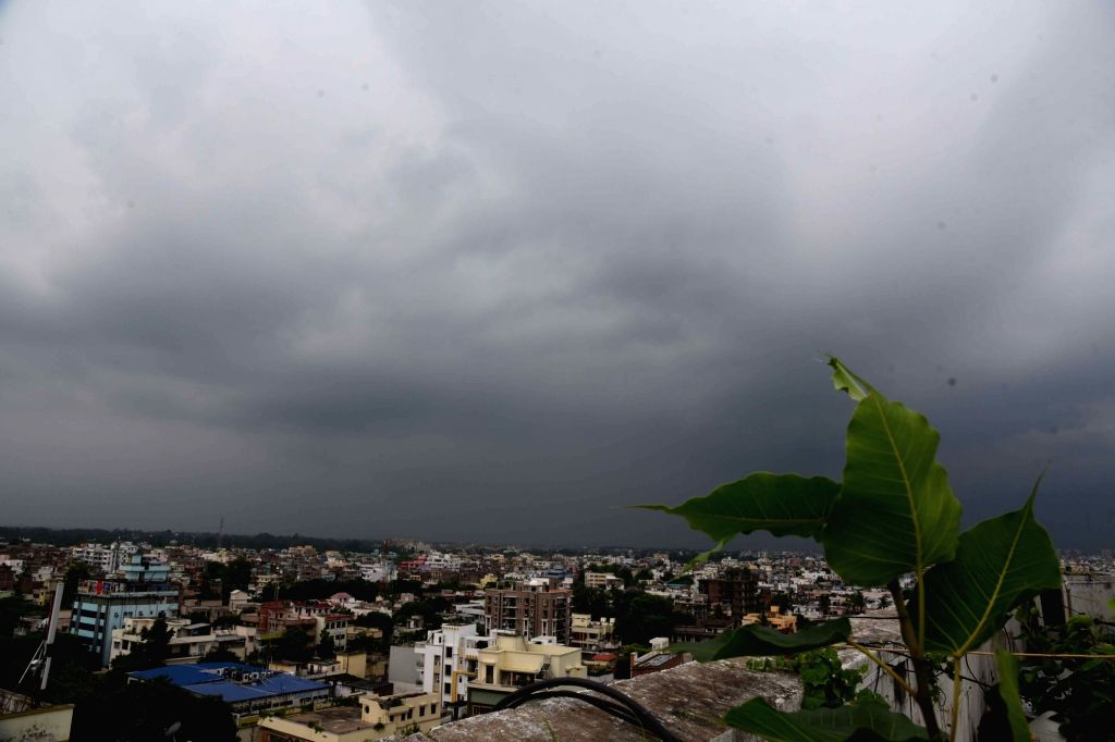 Dark clouds hover over Patna on an overcast day, on July 26, 2019.