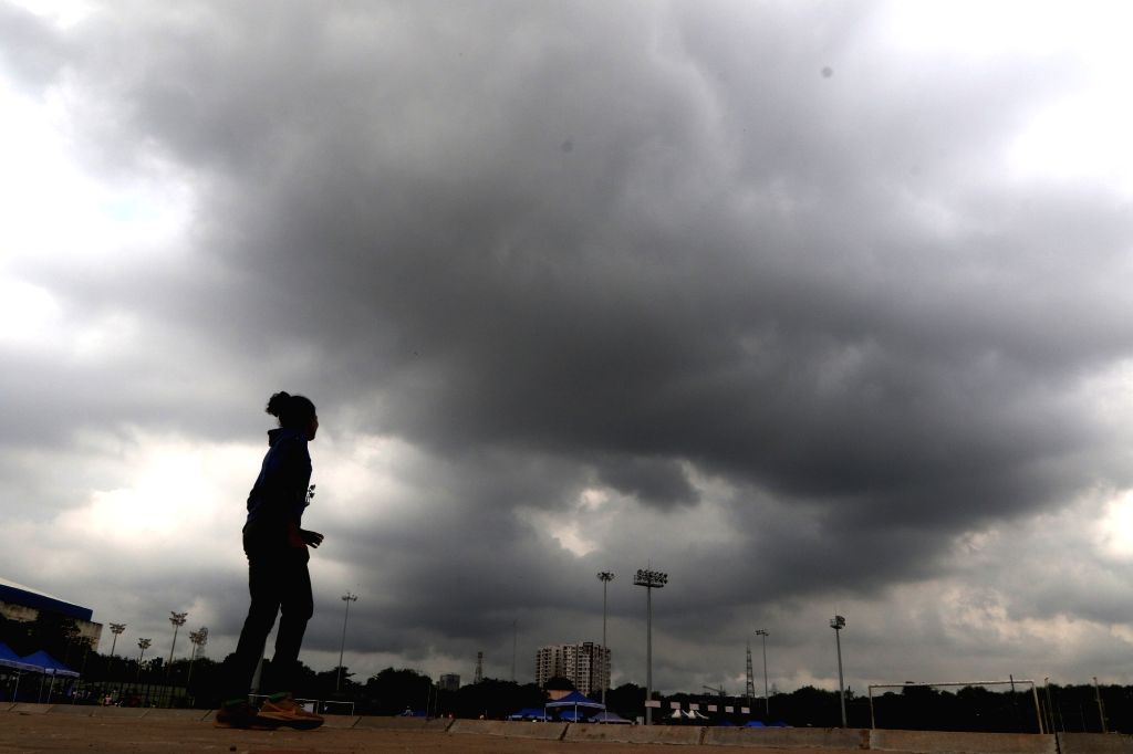 Dark clouds loom over Chennai on an overcast day, on Oct 19, 2019.