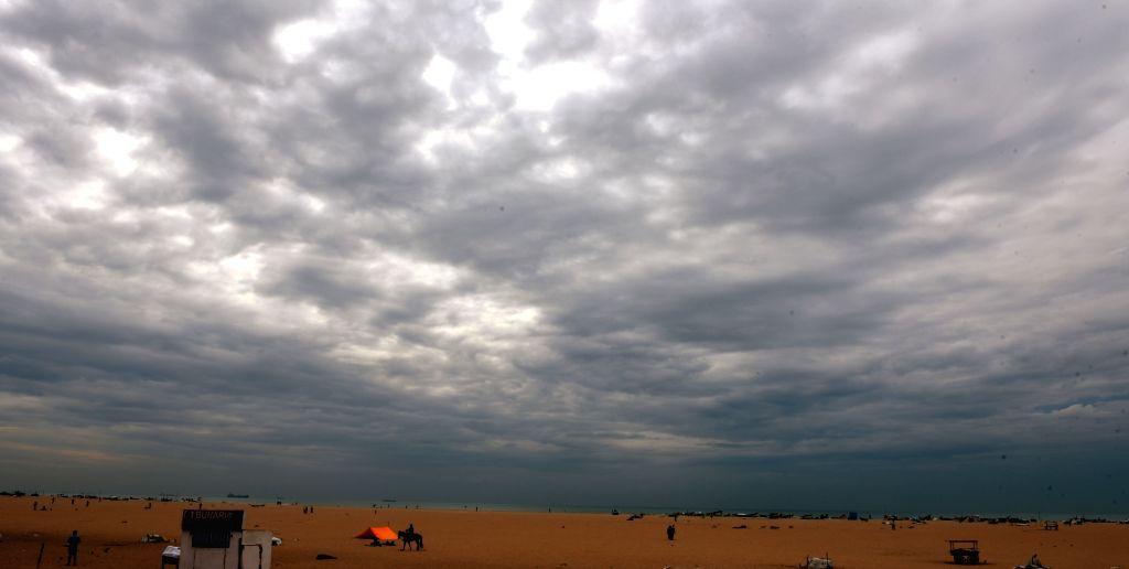 Dark clouds loom over Chennai on July 30,  2016.