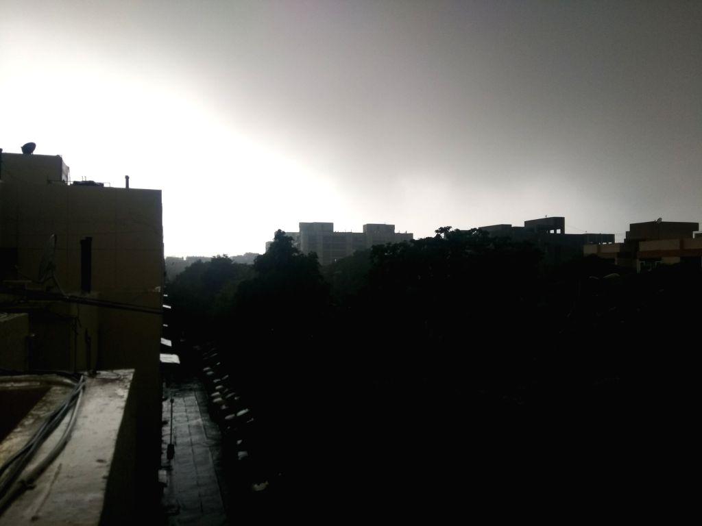 Dark clouds loom over Delhi on Sept 2, 2018.