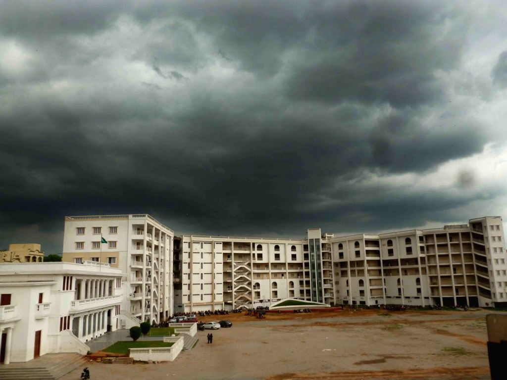 Dark clouds loom over Hyderabad on July 26, 2016.