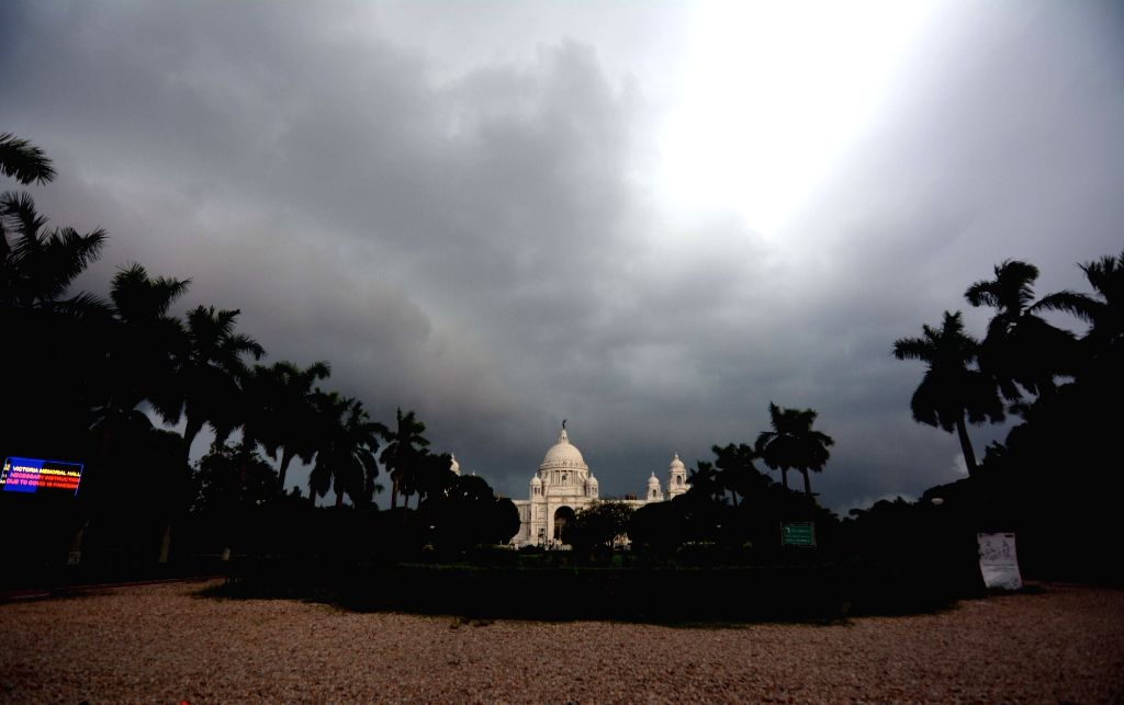 Dark cloudy sky and heavy rain in Kolkata on Sunday 13 June, 2021.