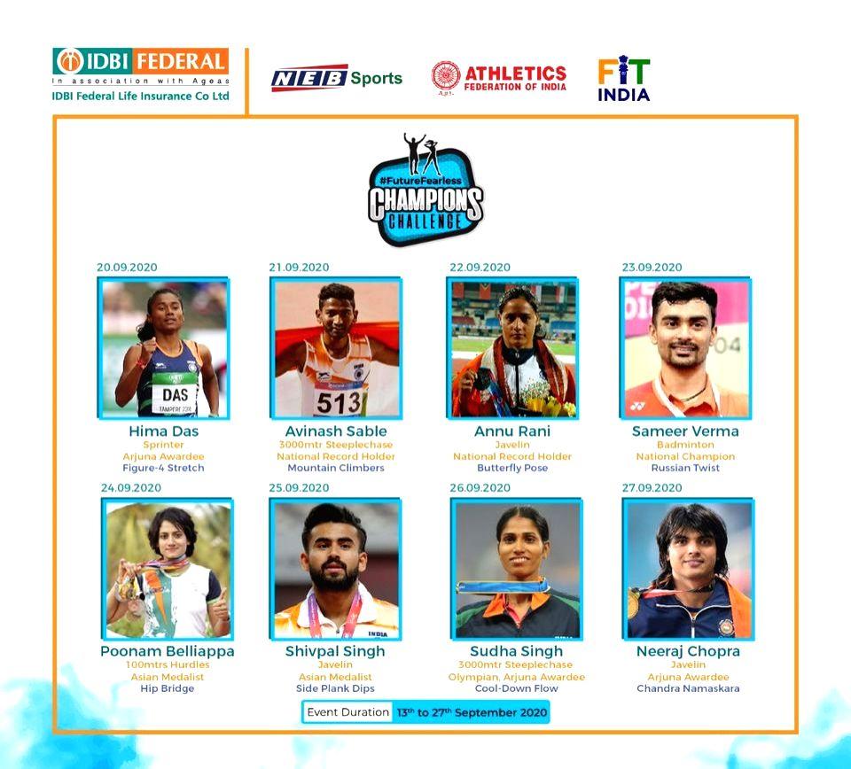 Das, Chopra & Gopichand to spearhead  Future Fearless Champions challenge