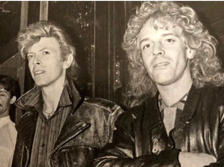 David Bowie saved rocker Peter Frampton from smoke-filled plane.