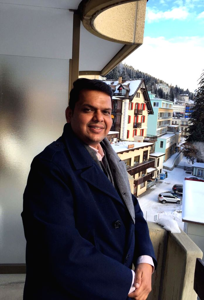 Maharashtra Chief Minister Devendra Fadnavis arrives at Davos, Switzerland to attend the annual summit of World Economic Forum (WEF) on Jan 22, 2015.