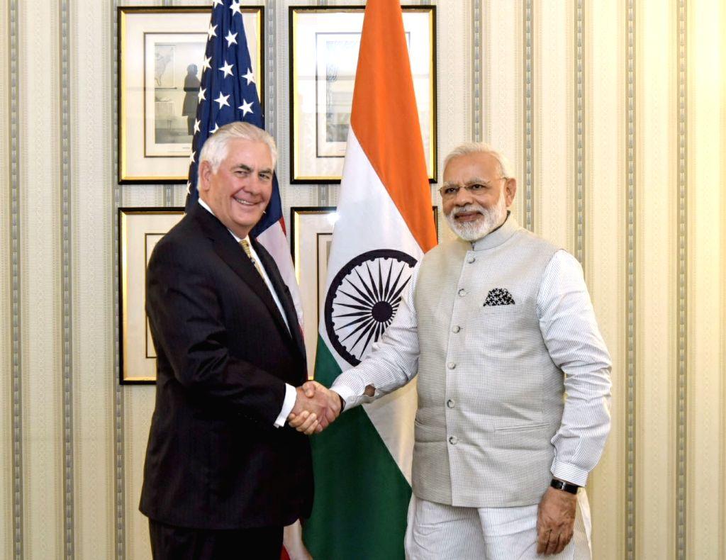 DC:  US Secretary of State Rex W Tillerson calls on Prime Minister Narendra Modi in Washington DC, USA on June 26, 2017. - Narendra Modi