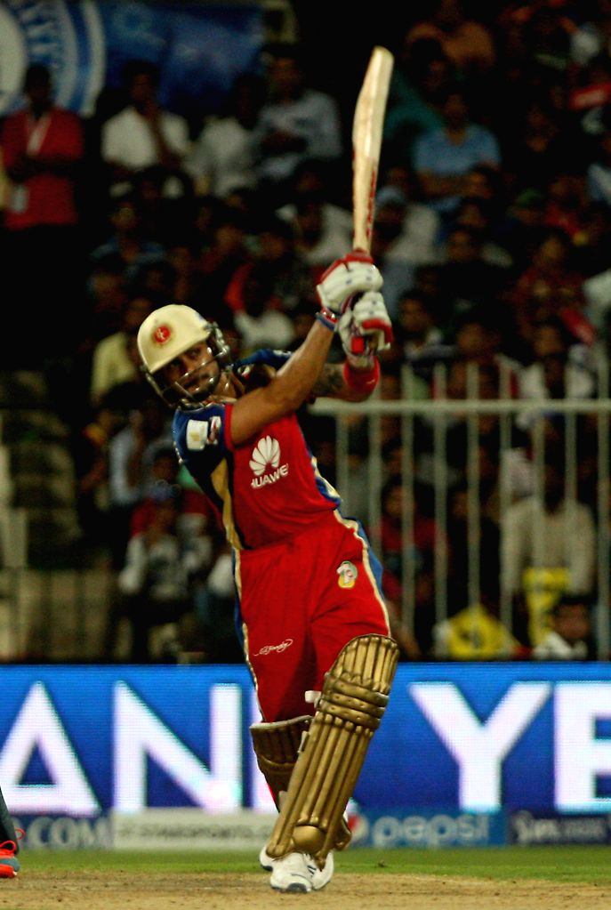 DD-RCB captain Virat Kohli in action during the second match of IPL 2014 between Delhi Daredevils and Royal Challengers Bangalore, played at Sharjah Cricket Stadium in Sharjah of United Arab Emirates - Virat Kohli