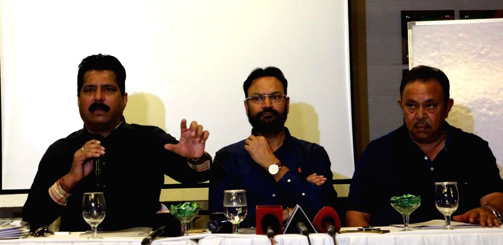 DDCA members address a press conference in New Delhi on Oct 18, 2016.