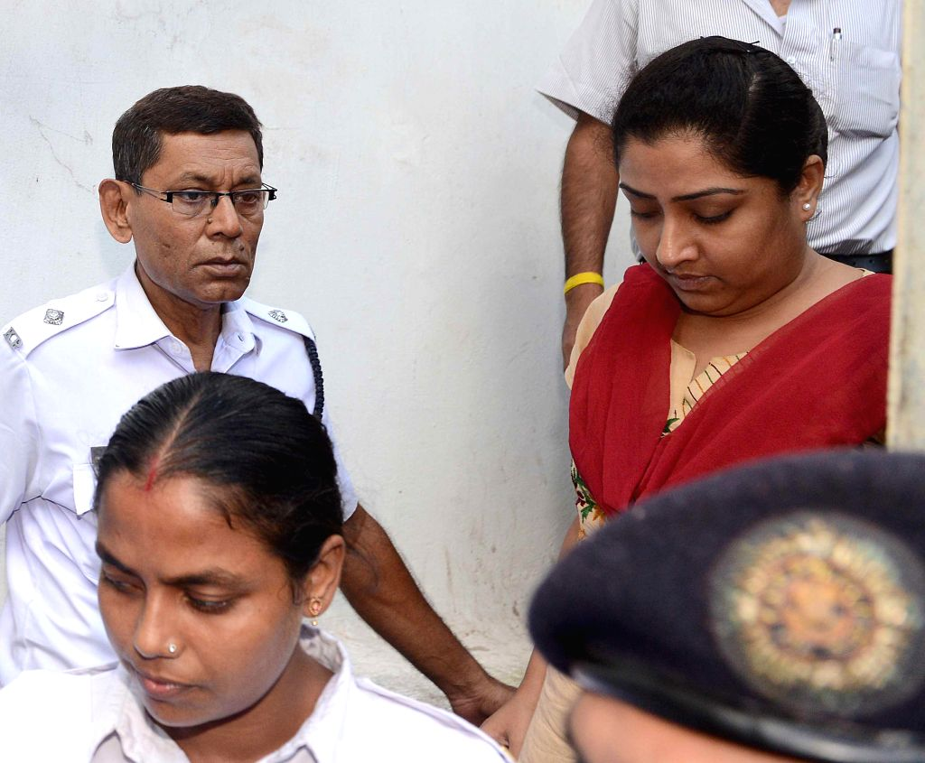 Debjani Mukherjee, one of the director of Saradha group being produced at a court in Kolkata on Sep 6, 2014.