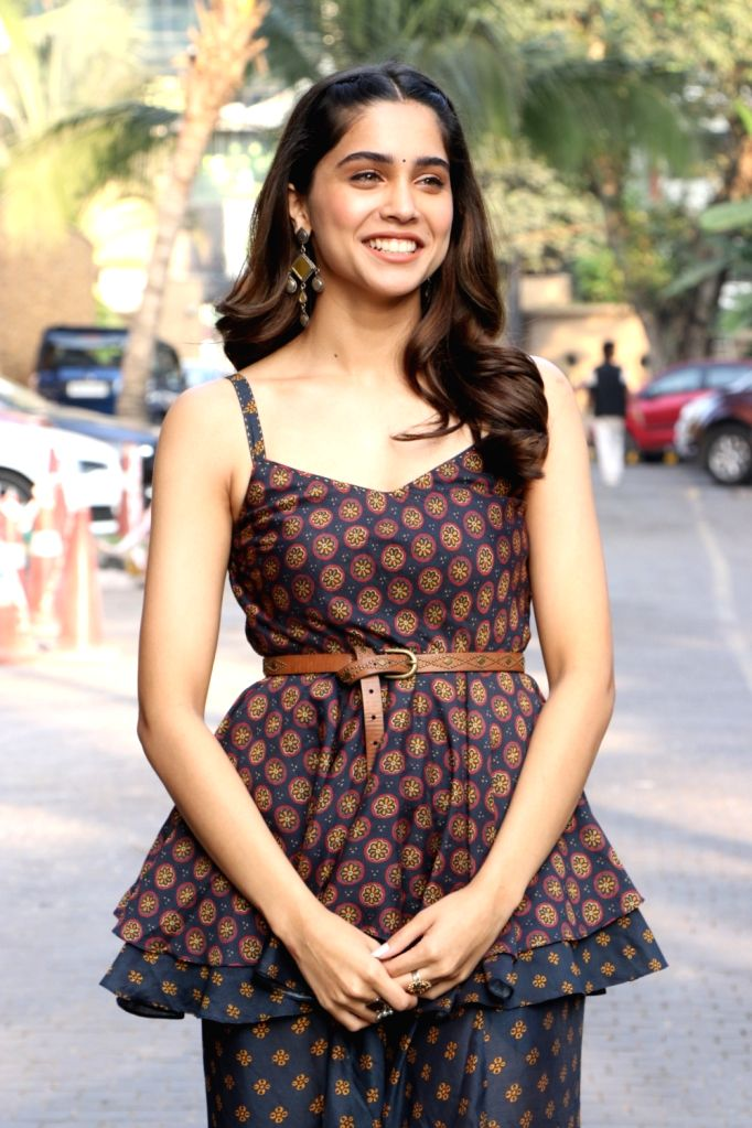 """Debutant actress Sharvari Wagh during the promotions of her upcoming film """"The Forgotten Army"""" in Mumbai on Jan 8, 2020. - Sharvari Wagh"""