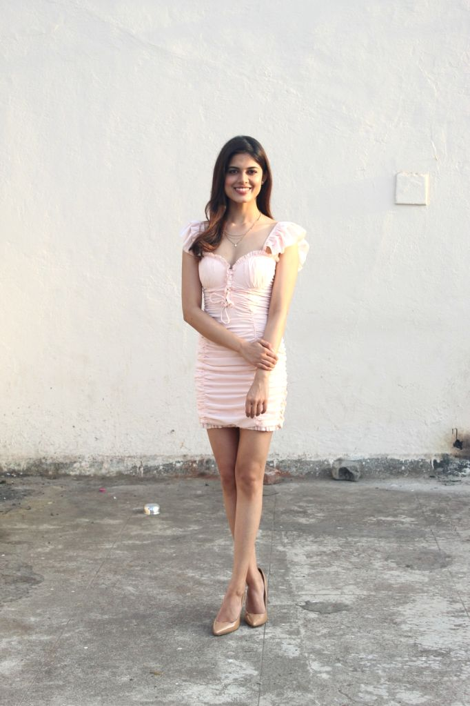 """Debutant Asha Bhat during the promotion of her upcoming film """"Junglee"""" at a studio, in Mumbai, on March 13, 2019."""