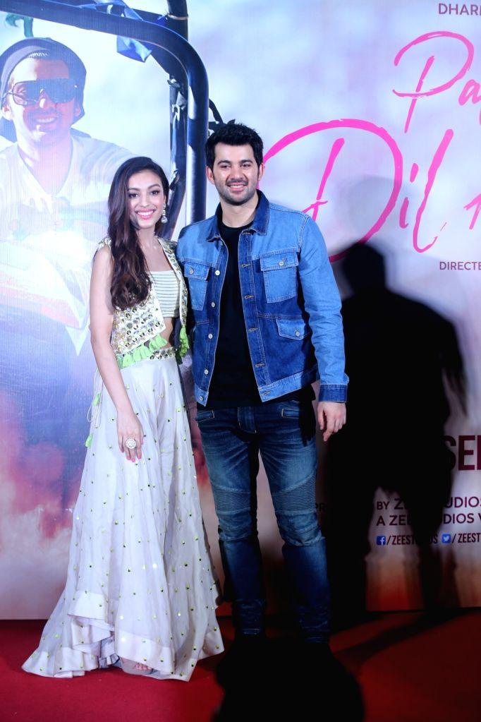 "Debutants Karan Deol and Sahher Bambba at the trailer launch of their upcoming film ""Pal Pal Dil Ke Paas"" in Mumbai, on Sep 5, 2019."