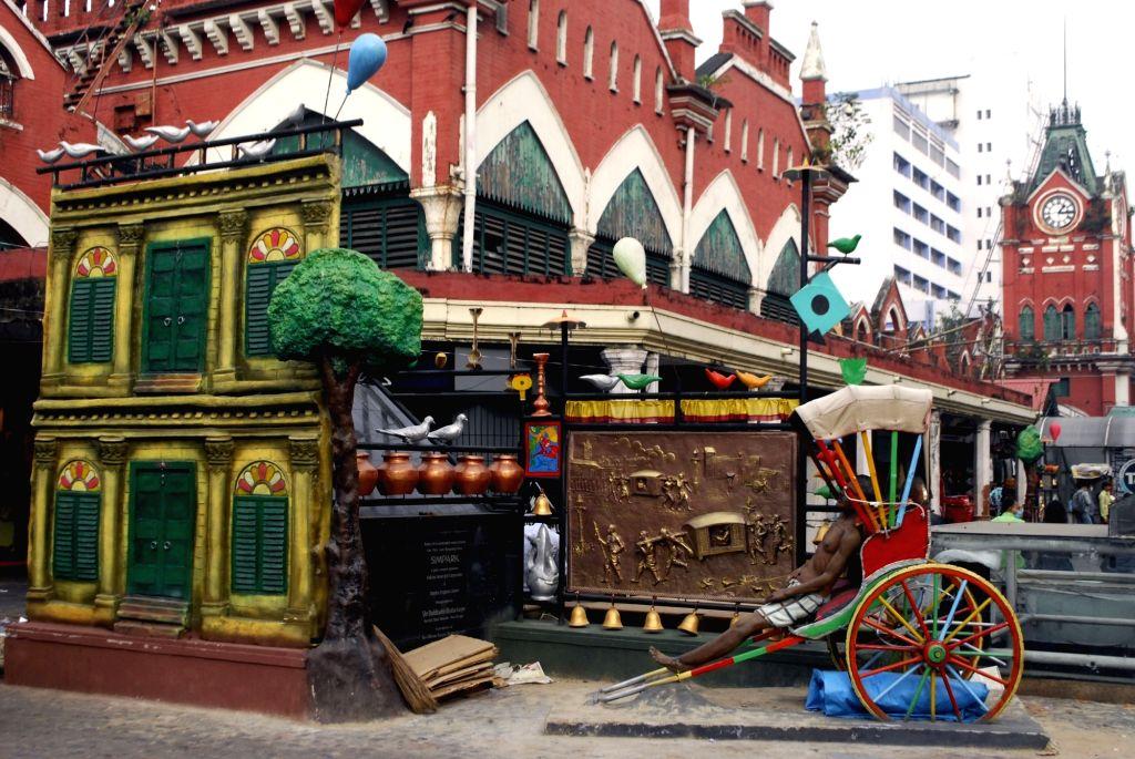 Decorated New Market area in Kolkata on Nov 25, 2020.