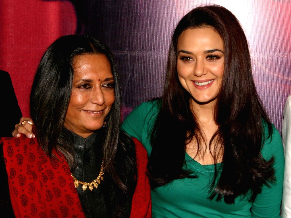"Deepa Mehta and  Bollywood actress Preity Zinta at a press meet for promotion of  her new film "" Videsh-Heaven on Earth"",in New Delhi on Friday."