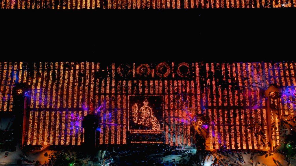 Deepotsav' underway in Ayodhya, Uttar Pradesh on Oct 26, 2019.