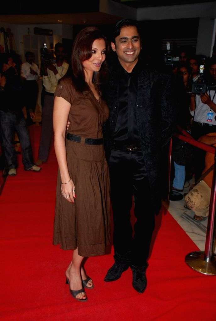 "Deepshikha and Anuj Saxena at the ""Aloo Chat"" film premiere."