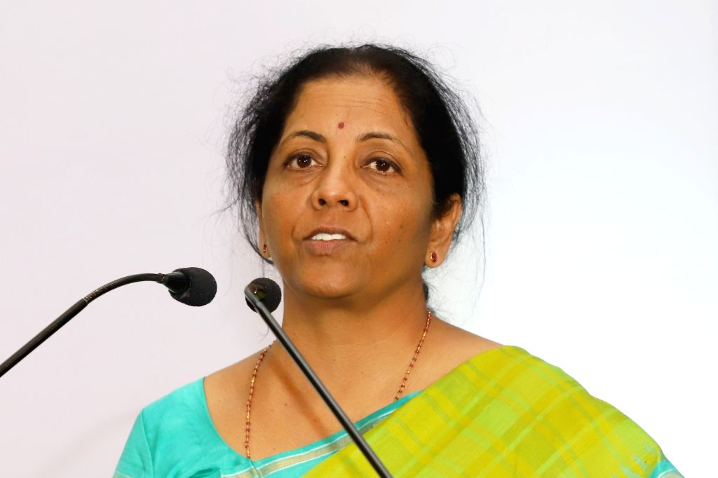 "Defence Minister Nirmala Sitharaman addresses at the launch of ""Indigenous 3DR Stereotactic System"" in Bengaluru, on Feb 19, 2019. - Nirmala Sitharaman"