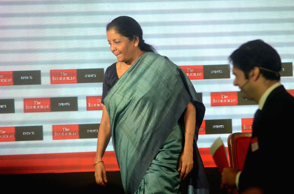 Defence Minister Nirmala Sitharaman at 'The Economist India Summit 2018', in Mumbai on Oct 25, 2018. - Nirmala Sitharaman