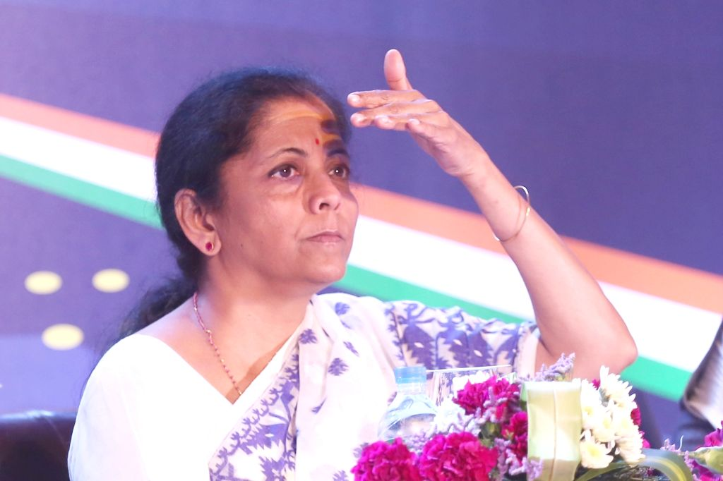 Defence Minister Nirmala Sitharaman during a curtain raiser press conference, on the sidelines of the Aero India-2019, in Bengaluru on Feb 19, 2019. - Nirmala Sitharaman