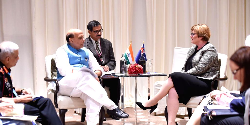 Defence Minister Rajnath Singh and Australian Defence Minister Linda Reynolds during their bilateral meeting, on the sidelines of ADMM-Plus, in Bangkok on Nov. 17, 2019. - Rajnath Singh