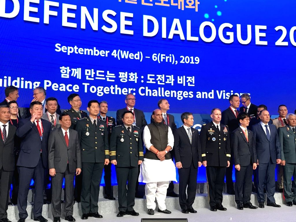 Defence Minister Rajnath Singh at Seoul Defence Dialogue 2019 in Seoul, Republic of Korea on Sep 5, 2019. - Rajnath Singh