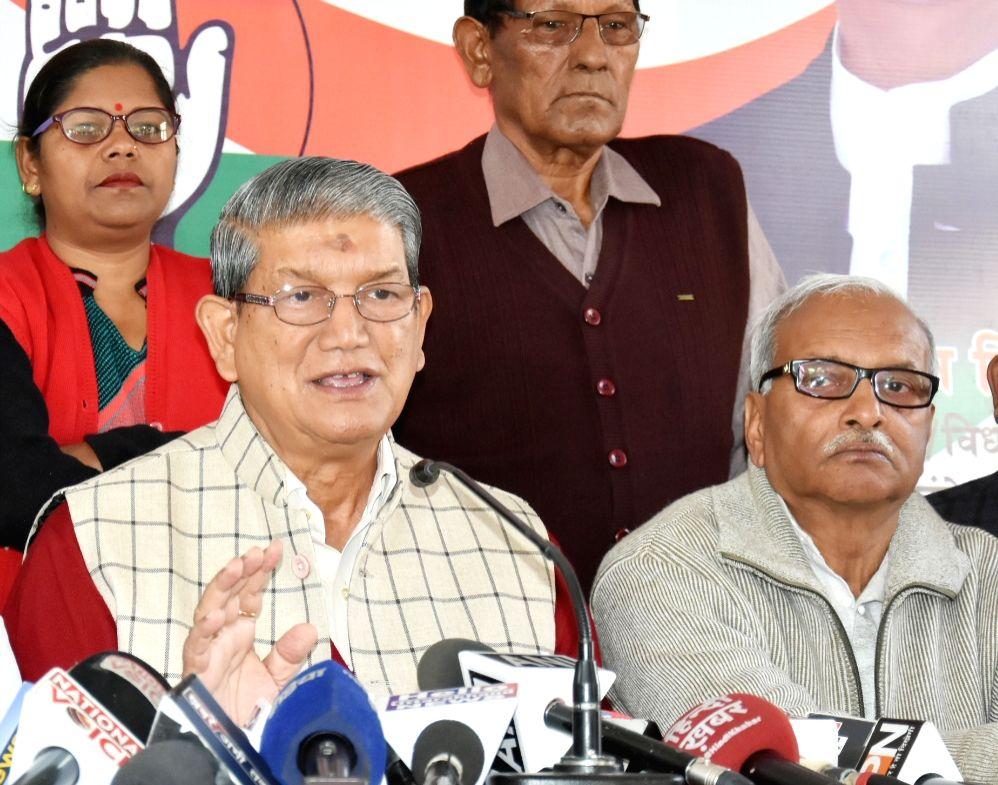 Dehradun: Former Uttarakhand Chief Minister and Congress leader Harish Rawat addresses a press conference in Dehradun, on Dec 18, 2018. (Photo: IANS)