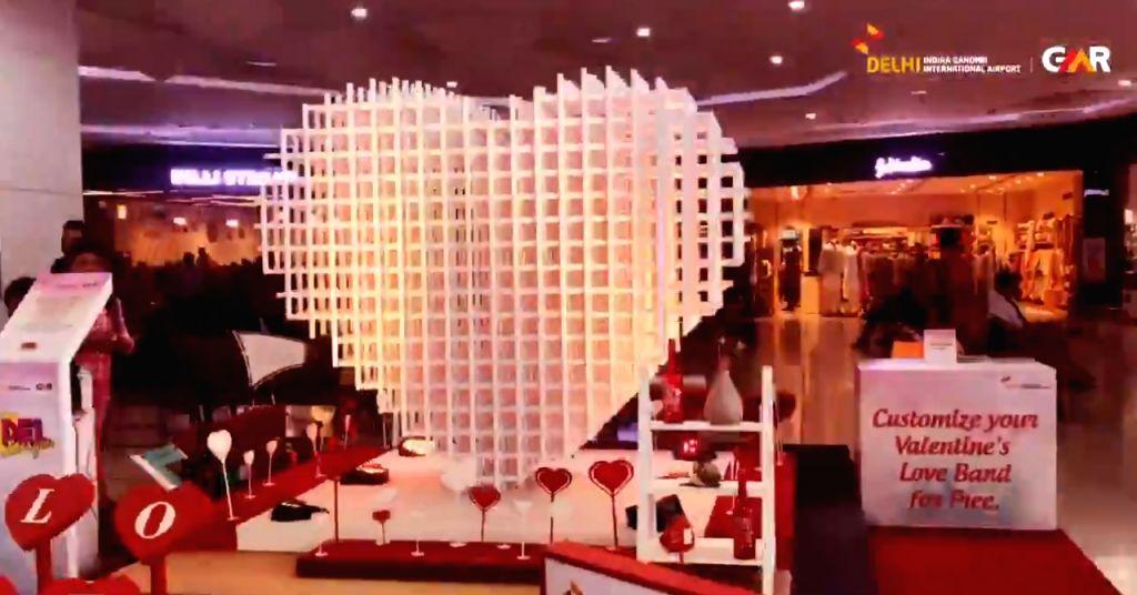 Delhi airport celebrates Valentine's Day in style.