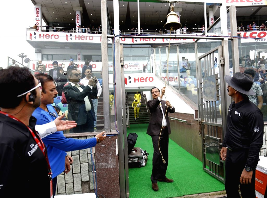 Delhi and Districts Cricket Association (DDCA) President Rajat Sharma rings the bell ahead of the fifth ODI match between India and Australia at Feroz Shah Kotla Stadium in New Delhi, on ... - Rajat Sharma