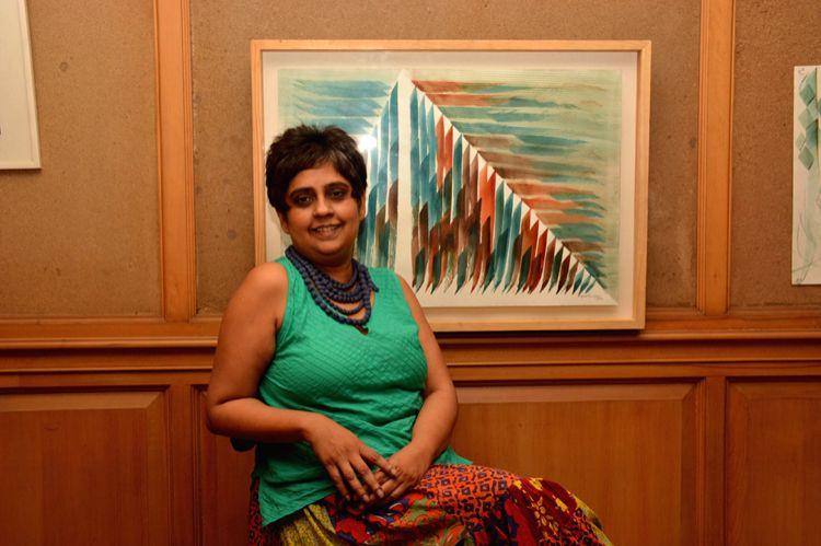 Delhi-based artist Aiyana Gunjan's debut solo show titled 'The Moving Finger - Aiyana Gunja