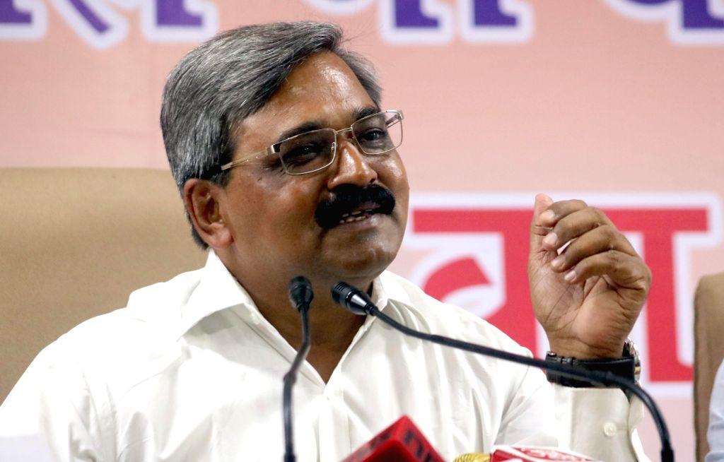 Delhi BJP chief Satish Upadhyay addresses a press conference in New Delhi on June 24, 2016. - Satish Upadhyay