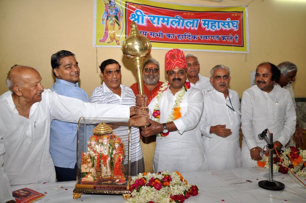 Delhi BJP chief Satish Upadhyay during a programme organised by Delhi Ramlila Maha Sangh in Delhi on July 5, 2015.