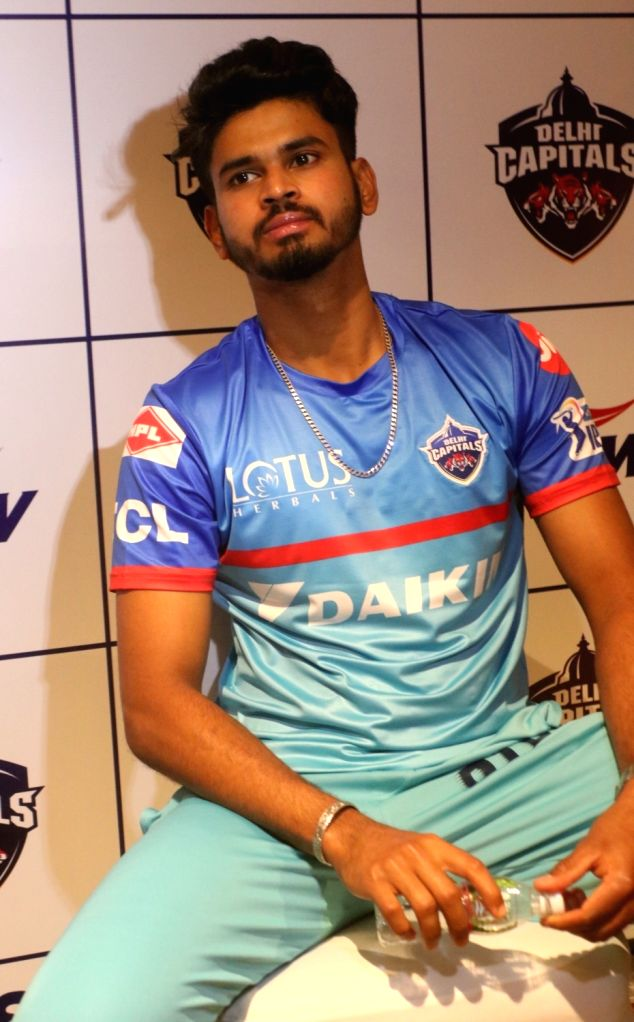 Delhi Capitals captain Shreyas Iyer at a press conference in New Delhi, on March 16, 2019. - Shreyas Iyer