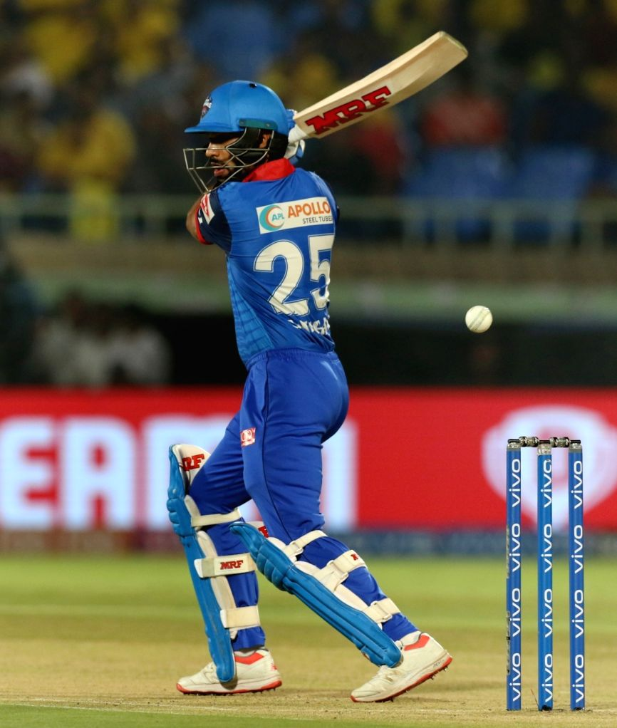 Delhi Capitals' Shikhar Dhawan in action during the 2nd Qualifier match of IPL 2019 between Chennai Super Kings and Delhi Capitals at Dr. Y.S. Rajasekhara Reddy Cricket Stadium in ... - Shikhar Dhawan