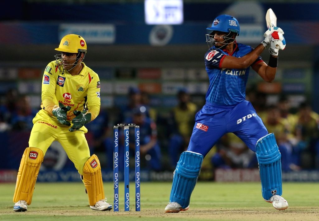 Delhi Capitals' skipper Shreyas Iyer in action during the 2nd Qualifier match of IPL 2019 between Chennai Super Kings and Delhi Capitals at Dr. Y.S. Rajasekhara Reddy Cricket Stadium ...