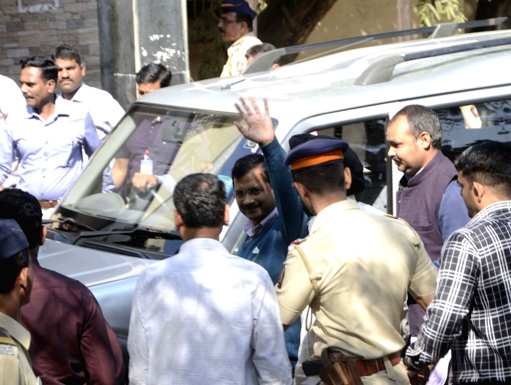 Delhi Chief Minister and AAP leader Arvind Kejriwal appears before a Mumbai court in connection with a case for holding an `unscheduled` rally during the 2014 Lok Sabha polls; on Jan 20, ... - Arvind Kejriwal