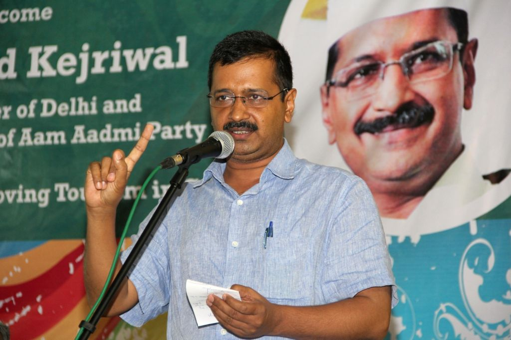 Delhi Chief Minister and AAP leader Arvind Kejriwal addresses hoteliers during a programme in Calangute, Goa on June 29, 2016. - Arvind Kejriwal