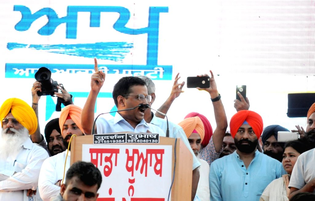 Delhi Chief Minister and AAP leader Arvind Kejriwal during a programme organised to release AAP's manifesto for upcoming Punjab elections in Amritsar on July 3, 2016. - Arvind Kejriwal