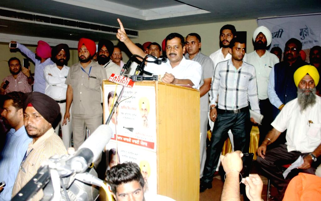 Delhi Chief Minister and AAP national convener Arvind Kejriwal addresses during a programm in Batala on Oct 25, 2016. - Arvind Kejriwal