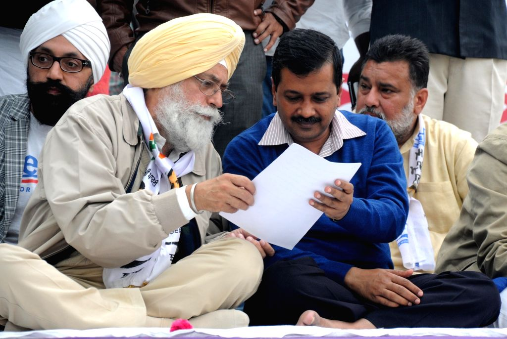Delhi Chief Minister and AAP national convener Arvind Kejriwal during a rally in Amritsar on Nov 30, 2016. - Arvind Kejriwal
