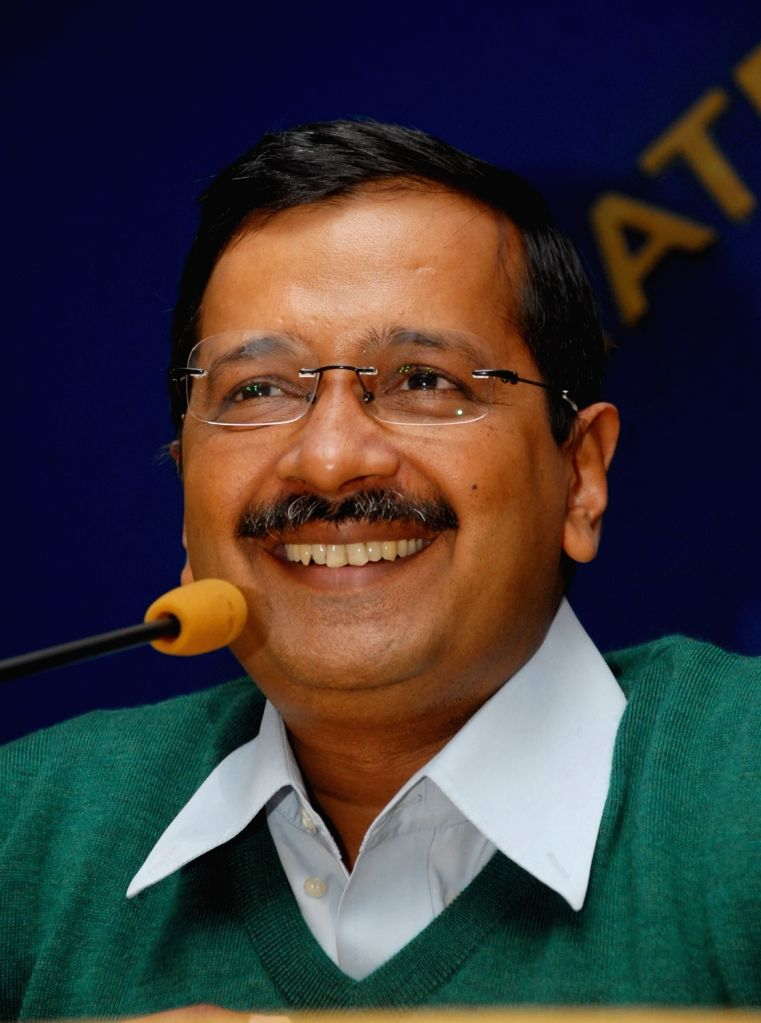 Delhi Chief Minister Arvind Kejriwal addresses a press conference in New Delhi on Jan 15, 2016.