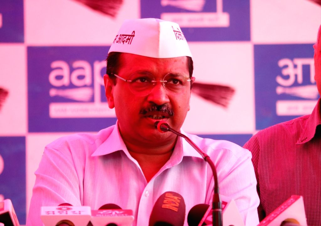 Delhi Chief Minister Arvind Kejriwal addresses a press conference regarding the attack on him during a road show on 4th May, in West Delhi;  in New Delhi, on May 5, 2019. - Arvind Kejriwal
