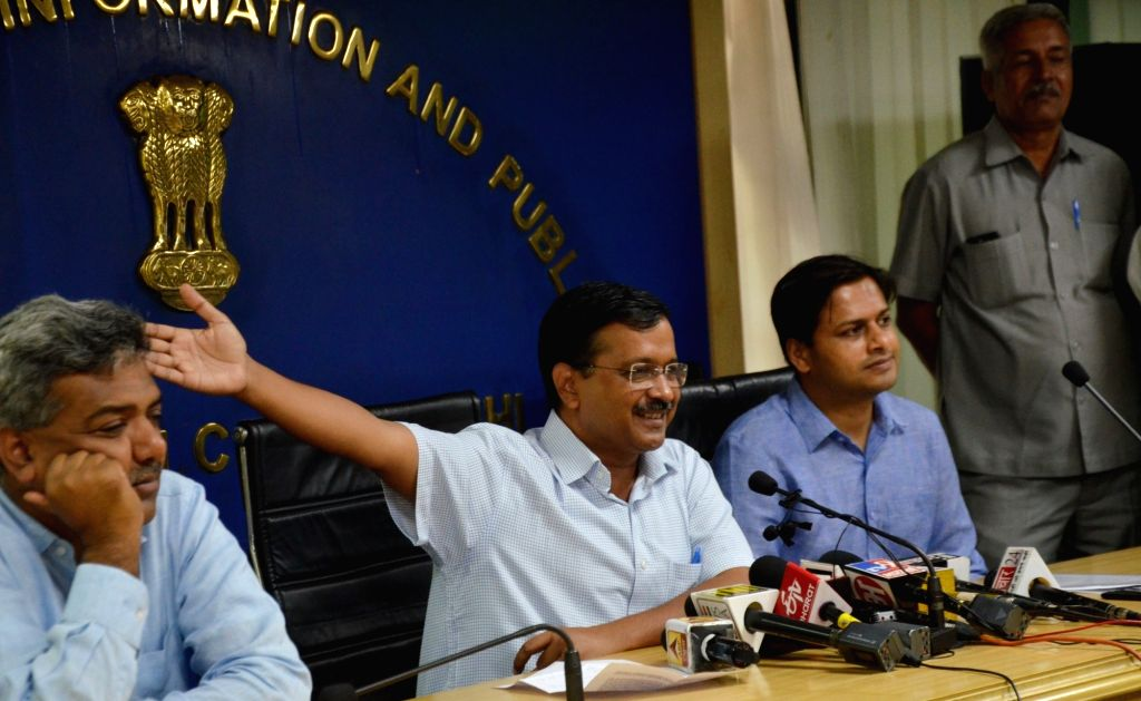 Delhi Chief Minister Arvind Kejriwal addresses a press conference in New Delhi on Sep 13, 2019. The CM on Friday announced that the Odd-Even scheme will be back in November, to tackle the ... - Arvind Kejriwal