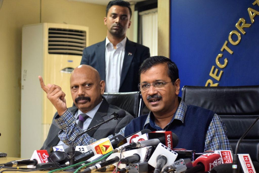 Delhi Chief Minister Arvind Kejriwal addresses a press conference in New Delhi on Nov 15, 2019. Kejriwal on Friday said the government will take a decision on extension of the Odd-Even ... - Arvind Kejriwal