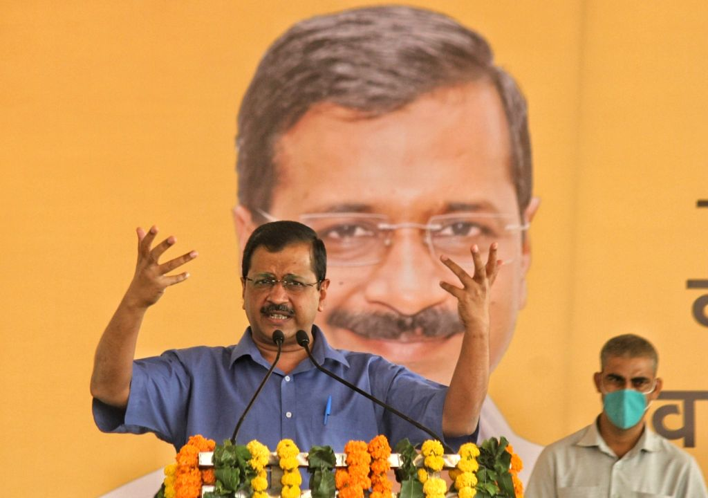 Delhi Chief Minister Arvind Kejriwal addresses at the inauguration of the Waste to Power Plant at Poultry Market Ghazipur in New Delhi on Oct 27, 2020. - Arvind Kejriwal
