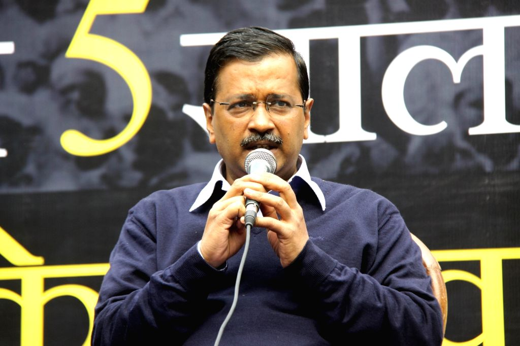 Delhi Chief Minister Arvind Kejriwal addresses at the launch of the website 'www.welcomekejriwal.in' for 'one to one communication' with the voters ahead of the Delhi Assembly elections, in New Delhi on Jan 27, 2020. (Photo: IANS) - Arvind Kejriwal