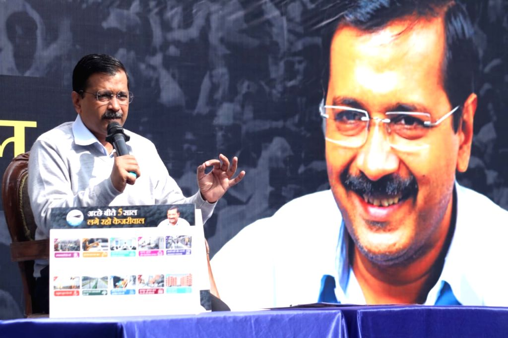 Delhi Chief Minister Arvind Kejriwal addresses at the release of 'Kejriwal ka Guarantee Card' ahead of the February 8 Assembly polls, in New Delhi on Jan 19, 2020. Kejriwal has guaranteed free public travel for students and basic facilities for unaut - Arvind Kejriwal