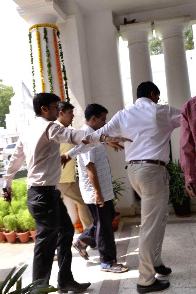 Delhi Chief Minister Arvind Kejriwal arrives at Delhi Assembly in New Delhi on May 9, 2017. - Arvind Kejriwal